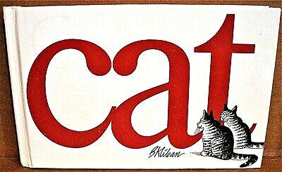 B Kliban CAT Hardcover Edition 1976 Feline Cartoon Illustrated Book America Love