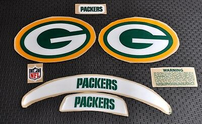 Green Bay Packers Custom Chrome F S Football Helmet Decals