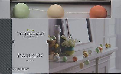 Easter Threshold 6 ft Egg Garland Indoor Decor Decoration NIB for sale  Sandy Hook