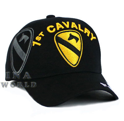 U.S. ARMY hat 1st CAVALRY Military Official Licensed Baseball cap- Black/Gold