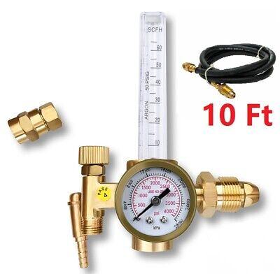 Argon Co2 Mig Tig Flow Meter Regulator Welding Flowmeter Gas Gauge Welder Hose