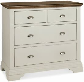 Grey and Walnut Chest of drawers - Unused still boxed