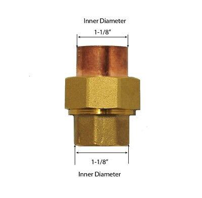 Libra Supply 1 Inch 1 Lead Free Copper Brass Sweat Union Cxc Solder Joint