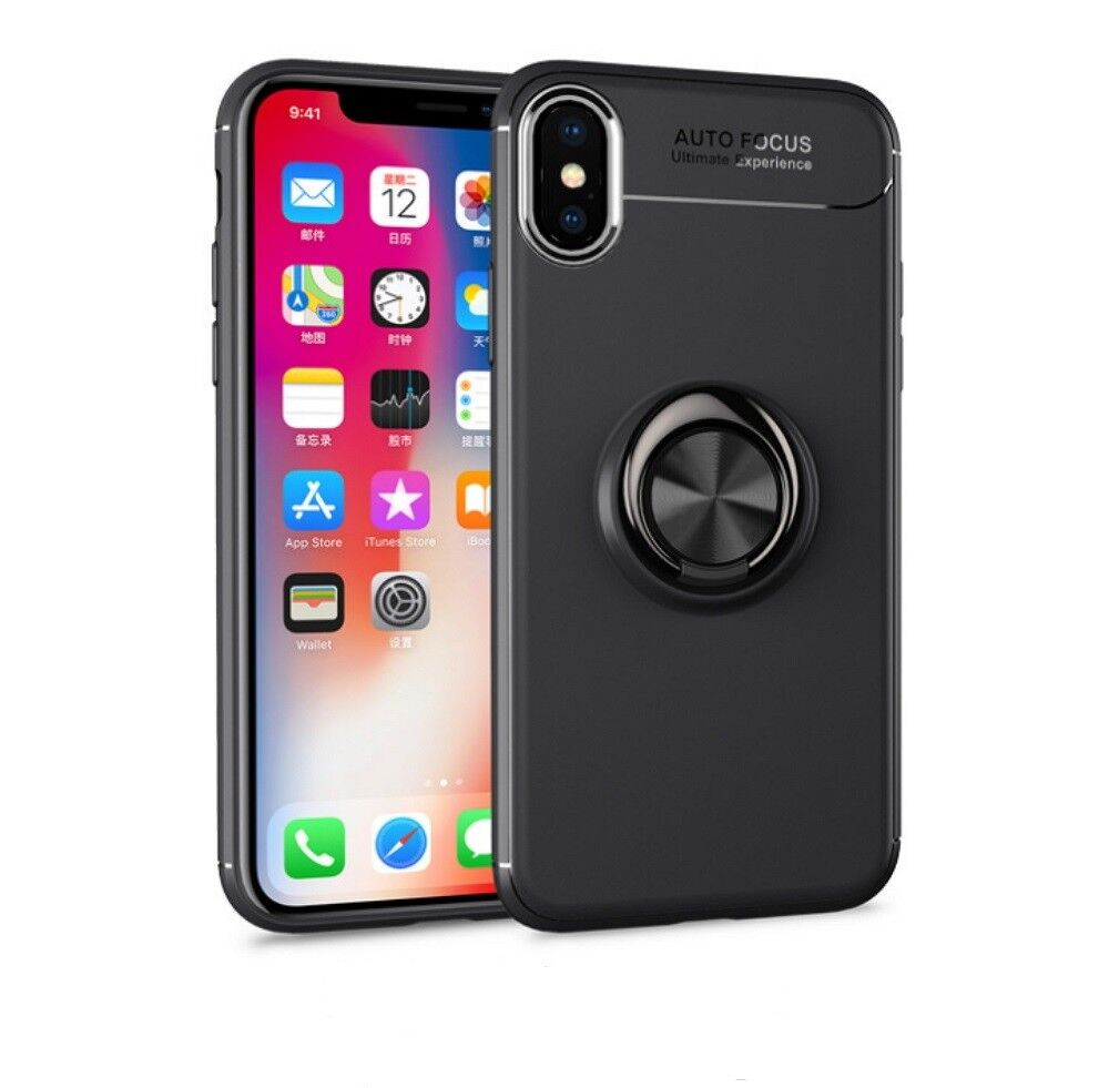 For iPhone XS Max XR Plus Ring Shockproof Protective Rugged TPU Back Case Cover Cases, Covers & Skins