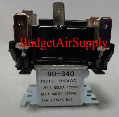 90-340 Switching Fan Relay Dpdt 24vac Hvac Replaces R8222d1014 90340