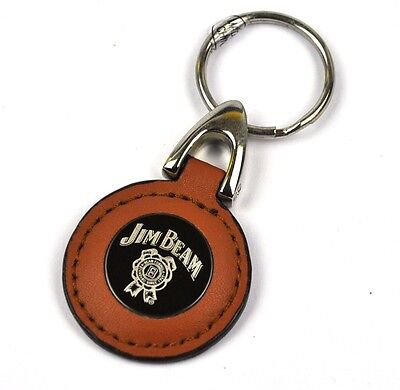 Jim Beam USA Leder Schlüsselanhänger Keychain Key Ring Siegel Logo