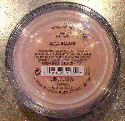 Bareminerals Blush  Appreciate  Full Size  85G Click N Go Sifter New Sealed