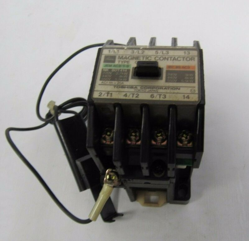 TOSHIBA MAGNECTIC CONTACTOR TYPE C11A JEMA AC3-1-0 NK80T414