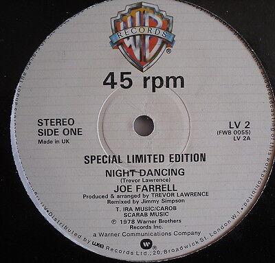 "JOE FARRELL - Night Dancing - Excellent Condition 12"" Single Warner Bros LV 2"