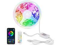 6M LED Strip Light USB With Remote & Phone App Control