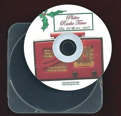 PHILCO RADIO TIME Bing Crosby Danny Thomas Xmas & New Year 2 otr radio shows CD ()