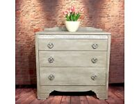 Hand Painted vintage style Chest of Drawers