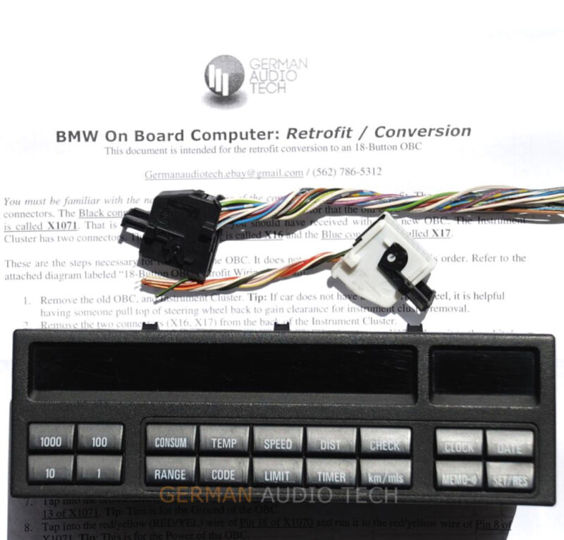 Outstanding Bmw E36 18 Button On Board Computer Check Control Obc Conversion Wiring Cloud Hisonuggs Outletorg