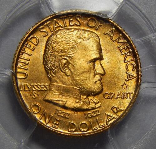 1922 PCGS MS66 GRANT MEMORIAL W/STAR GOLD DOLLAR COMMEMORATIVE