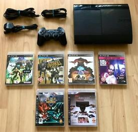 Playstation 3 Super Slim (60GB) with 6 games