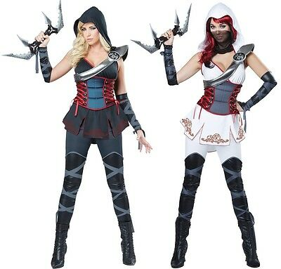 White Black Female Assassins Costume Templars Creed Spies Ninja Aveline Parkour - Female Assassin Creed Costume