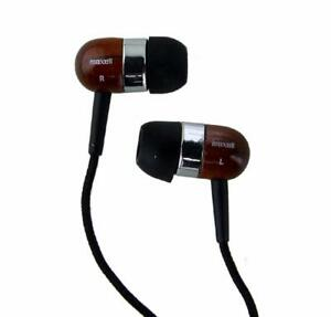 maxell TIMBERS Digital Mahogany Wooden Stereo Earbuds