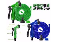 75FT Expanding Expandable Elastic Compact Garden Hose Pipe With Spray Gun ( JOB LOT / WHOLE SALE )
