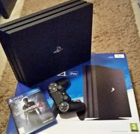 PlayStation 4 Pro Console 1TB SSHD + Uncharted 4 Thief's end!
