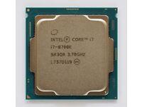 Intel Core I7-8700k CPU LGA 1151 Hex Core 3.70GHZ Coffee Lake 95W Processor