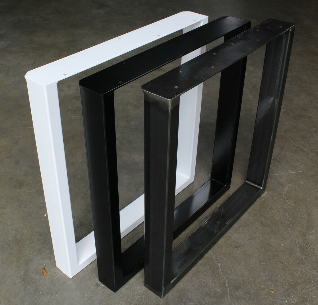 Schwarz , Weiß , Klarlack pulverbeschichtet Tischkufen Tischgestell Tischbeine