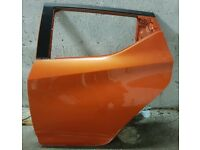 NISSAN MICRA ORANGE REAR DOOR - MK5 (K14) 2017 - 2020 - PASSENGER SIDE