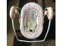 Mint 3-9 months Baby musical & vibrating rocker swing infant toy cheap bargain