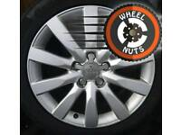 """17"""" Genuine Audi 10 spoke alloys good cond excel Continental tyres."""
