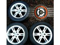"16"" Genuine Seat alloys 3 ONLY excel condition with tyres."