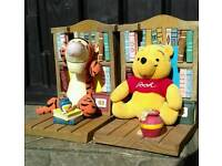 Winnie the Pooh and Tiger bookends.
