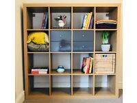 Ikea Kallax storage unit 4x4 oak