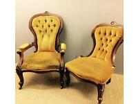 Pair Of Antique armchairs free delivery in London
