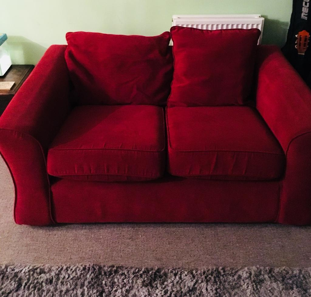 Small Red 2 Seater Sofa In Didcot Oxfordshire Gumtree