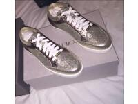Jimmy choo Miami champagne glitter trainers sneakers