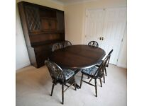 Priory Oak Dresser plus Extending Table and 6 Chairs - priced to sell quickly