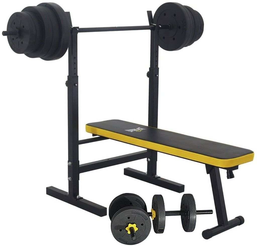 Everlast Folding Bench With 50kg Weights - Brand new - Still in box -  Collection only