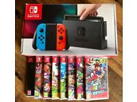 Nintendo Switch Neon + 3 Games!!! Fast RM Special Delivery Available.