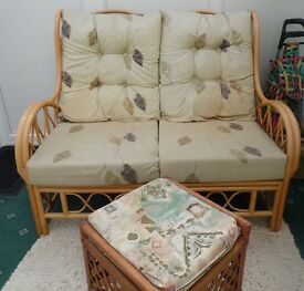 Conservatory Furniture , good condition, two seated sofa , two chairs, foot stall , nest of tables.