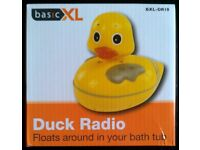 Basic XL 'Duck Radio' Waterproof Floating Radio (as new)