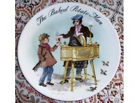 VINTAGE COLLECTABLE PLATE. 1985. SERIES OF THE STREET SELLERS OF LONDON.