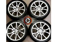 "18"" Genuine Audi alloys refurb Gunmetal Grey, excellent matching Continental tyres."