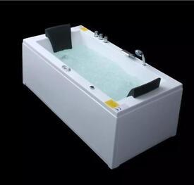 Whirlpool bath built in taps waste jets pump