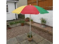 LARGE COLOURED SUN UMBRELLA