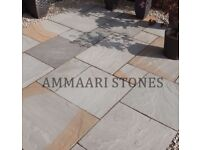 Buff Grey Sandstone Paving | 22mm Calibrated | 16.06m² Patio Pack £335 *FREE NATIONWIDE DELIVERY*