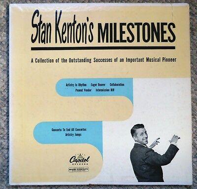 Stan Kenton Milestones 10 inch LP Capitol H190 Very Clean 8 tracks