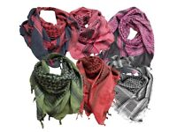 100% Cotton Shemagh Scarf Scarves Wholesale Colours Available