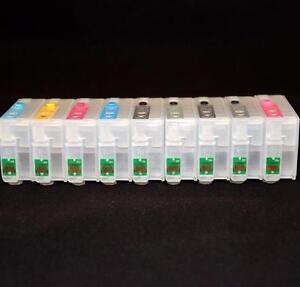 Refillable Ink Cartridges for Epson SureColor P600 SC-P600 NEW