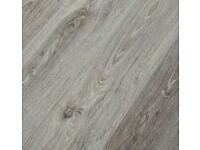 BRAND NEW 8 packs rustic grey oak 8mm click system laminate flooring with 3mm underlay .