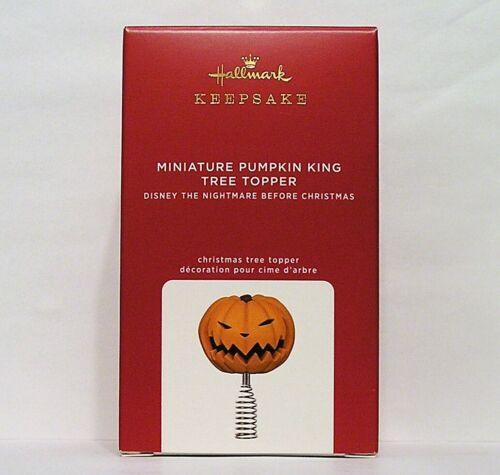 "Hallmark The Nightmare Before Christmas Miniature Pumpkin King Tree Topper 4"""