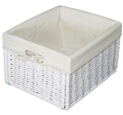 KMH® Schrankkorb Regalkorb Körbe Aufbewahrungskorb Kiste Korb Rattan Box weiß